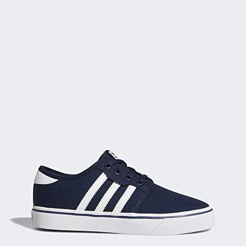 adidas Originals Unisex Seeley Running Shoe, Collegiate Navy White, 4.5 M US Big Kid (Jordan Kids Girl Shoes)
