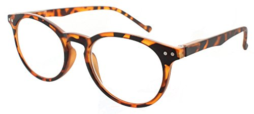 fd42f11baac3 Reading Glasses Comfortable Lightweight Round Readers with Spring Hinge for  Men and Women