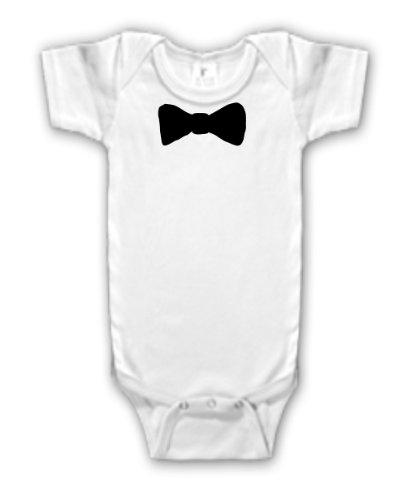 da4c6b32c Amazon.com: Bow Tie Tuxedo Bowtie Little Man Baby Boy Bodysuit Onesie:  Clothing