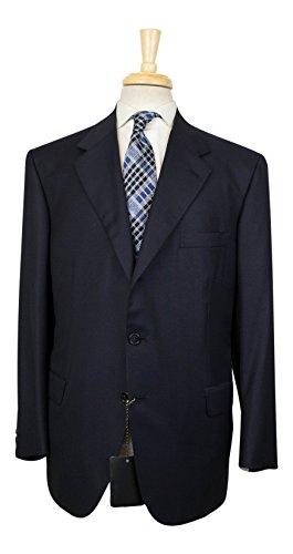 brioni Senato 21 Navy Blue Super 150s Wool 3/2 Button Suit 58/48 S - 150s Wool 3 Button Suit