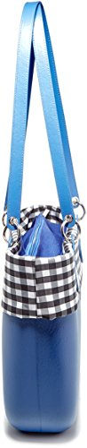x H W 026 B001 Donna cm Mano x Borsa bag Cobalto Multicolore a O L 14x31x39 qTO461ww