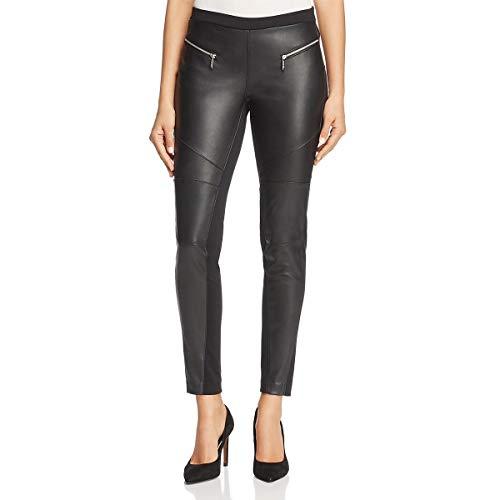 MICHAEL Michael Kors Womens Faux Leather Comfort Waist Leggings Black 8
