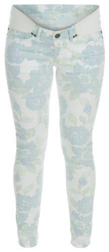 Noppies - Pantalón premamá skinny / slim fit con estampado floral para mujer Blanco 001