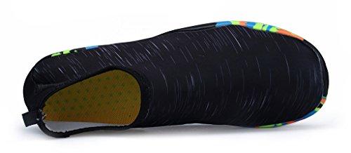 Herobest Men Donna A Piedi Nudi Quick-dry Sport Acquatici Aqua Scarpe Per Surf Yoga Acquagym D-black