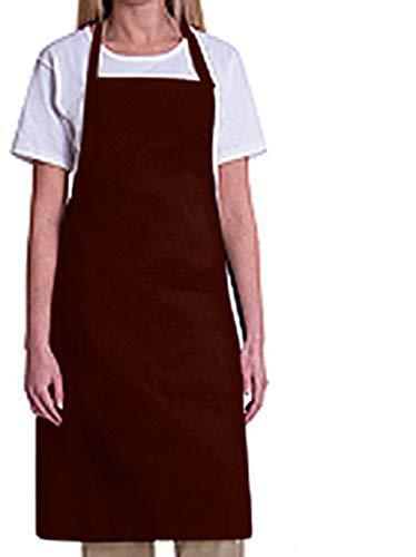 Bib Aprons-MHF Aprons-1 Piece Pack-2 Waist Pockets- New Spun Poly-commercial Restaurant ()