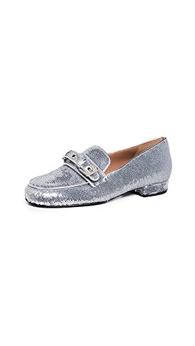 Laurence Dacade Women's Rufus Loafers, Silver, 10.5 Medium US