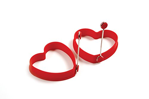 Norpro Silicone Heart Pancake/Egg Rings, 2 - Egg Shaped Heart
