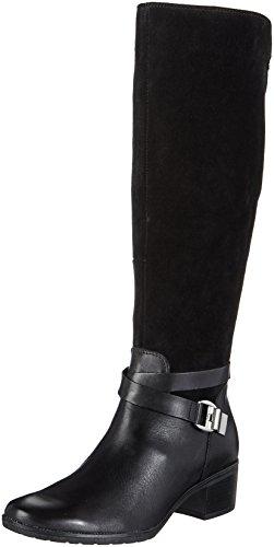 4 para Mujer Botas Caprice 25609 Negro Xqnf64Xx