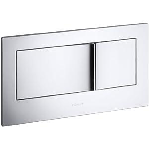 KOHLER K-6298-CP Veil Flush Actuator Plate, Polished Chrome