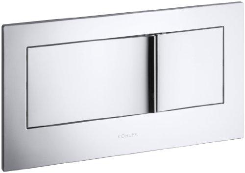 KOHLER K-6298-CP Veil Flush Actuator Plate, Polished Chrome by Kohler