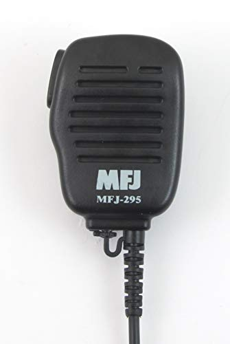 MFJ-295I Mini Speaker Mic for Icom HTs with 2 Pin - Plastic Connector Swivel Mount Pin