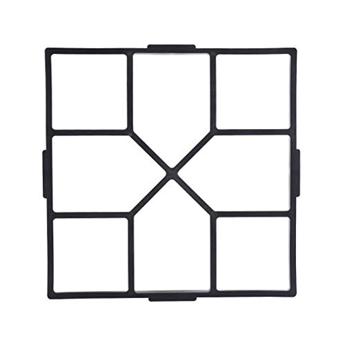 Garden Pavement Path Maker Mold Walk Brick Concrete Form Square Stepping Stone Molds DIY Walkway Reusable for Yards Walking, 15.7X15.7inches, 3Pack