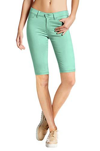 (HyBrid & Company Womens Super Stretch Comfy Skinny Pants B44876 Mint L)
