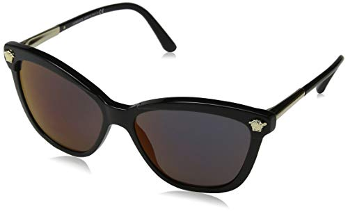 Versace Women's Cat Eye Mirrored Sunglasses, Black/Red, One ()