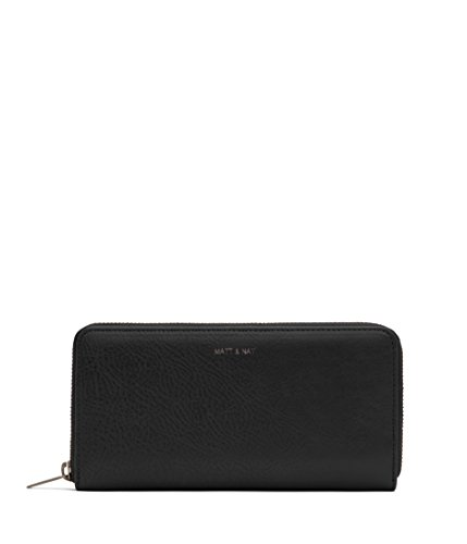 Matt & Nat Central Handbag, Dwell Wallets Collection, Black (Black)