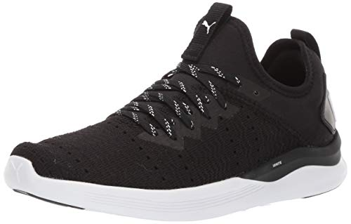 (PUMA Women's Ignite Flash Sneaker, Black White, 6.5 M US)