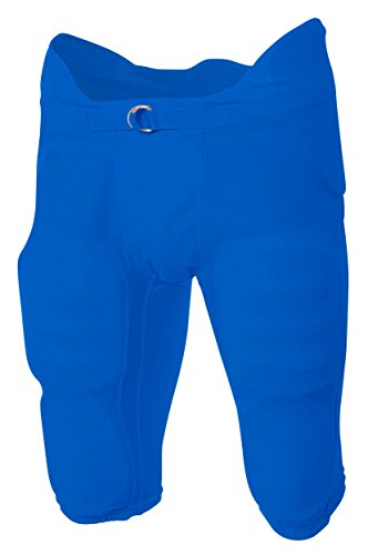A4 Youth Flyless Integrated Football Pant (Royal) (XS) ()