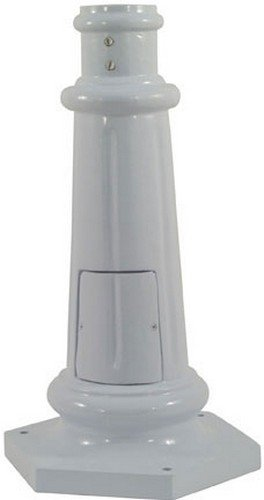 Dabmar Lighting BS350-W Surface Mounted Base for 3'' O.D. Round Post, White by Dabmar Lighting (Image #1)