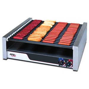 APW Wyott Tru Turn Surface Flat HotRod Hot Dog Roller Grill - 16 Roller, 8 1/2 x 34 3/4 x 29 9/16 inch -- 1 each.