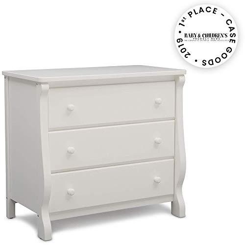 Delta Children Universal 3 Drawer Dresser, White (Drawer Chest White Three)