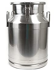 Stainless Steel Milk Can Heavy Duty Milk Jug Milk Bucket Water Jug Ice Bucket Wine Pail Bucket Bottle Tote Jug with Sealed Lid Liquid Storage