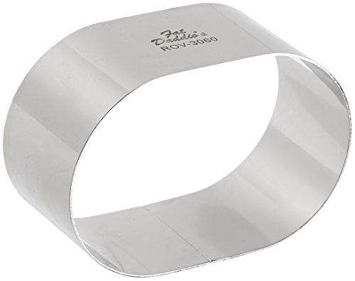 Oval Cake Ring - Fat Daddio's Stainless Steel Oval Cake and Pastry Ring, 3.5 x 2.375 x 1.5