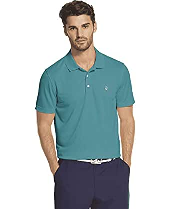 IZOD Men's Performance Golf Short Sleeve Grid Polo Shirt at Amazon Men's Clothing store: