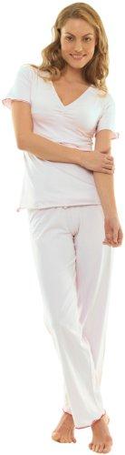 Quarantasettimane Pyjama Manches Courtes Blanc S