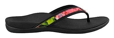Vionic Womens Tide II Sandal Black Floral Size 5