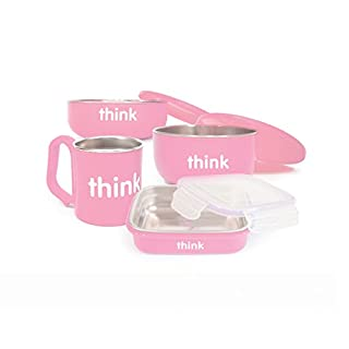 Thinkbaby Complete BPA Free Feeding Set (Pink)