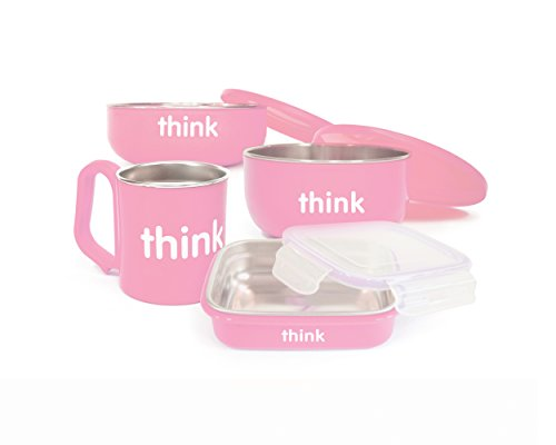 thinkbaby The Complete BPA Free Feeding Set, Pink