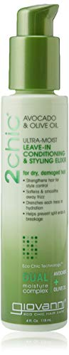 Moist Oil - Giovanni 2chic Avocado and Olive Oil Ultra-Moist Leave in Conditioning and Styling Elixir, 4 Fluid Ounce