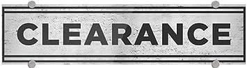 Clearance 5-Pack 24x6 Basic Gray Premium Acrylic Sign CGSignLab