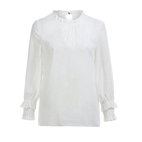 T Haut Chemisiers Blouses Blouses Officier Originaux Manches Longues Saison Tops Blanc Longra Rtro Femme Femme Chic Shirts Mi lgant Vintage Chiffon vXngqw