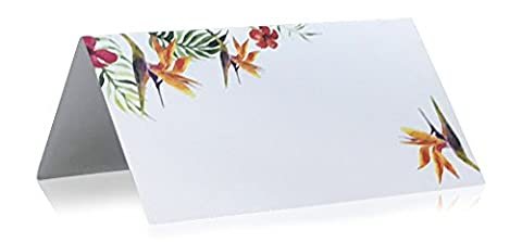 Jot & Mark Place Cards Floral 50 Count (Birds of Paradise) - Tree Place Card