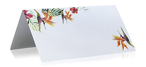 - Jot & Mark Place Cards Floral, 50 Count | Table Tented Cards for Weddings, Seating, Party, Events