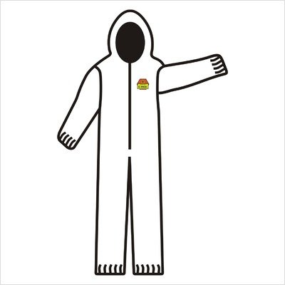 Safety C-Max 3 Layer White Breathable Coverall with Attached Hood, Elastic Wrists, Ankles and Waist - Extra Large