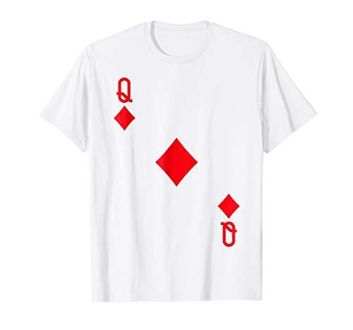 Queen of Diamonds Costume T-Shirt Halloween Deck of -