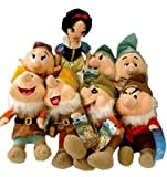 Disney Snowhite and 7 Dwarfs Plush Set - Snow White plush