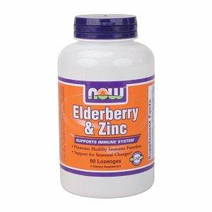 NOW Foods Elderberry & Zinc, Lozenges 90 ch