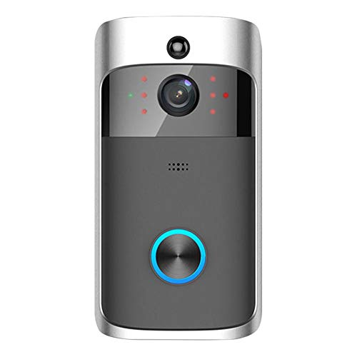 UNIhappy WiFi DoorBell HD 720P Visual Intercom Video Night Vision Door Phone (Grey)