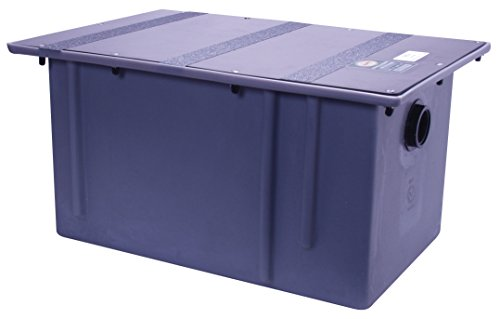 Zurn GT2702-20 Polyethylene Grease Trap 20 Gallons Per Minute 40 Pounds Capacity Grease Interceptor, Grease Interceptor Zurn Grease Traps