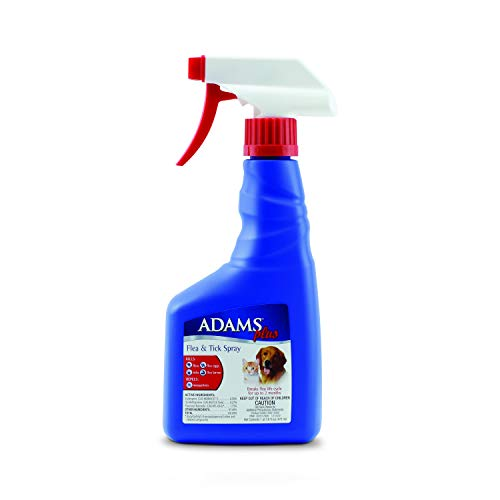 Adams Plus Flea and Tick Spray for Cats and Dogs, 16 Oz
