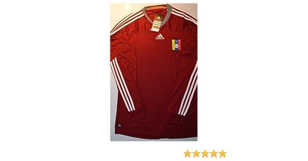 Amazon.com : adidas Venezuela Home Soccer Long Sleeve Jersey Camisa de la Vinotinto FVF V39905 : Sports Fan Jerseys : Sports & Outdoors