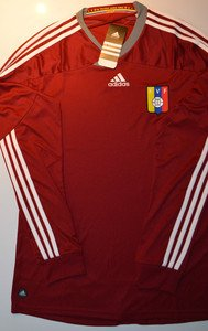 adidas Venezuela Home Soccer Long Sleeve Jersey Camisa de la Vinotinto FVF V39905