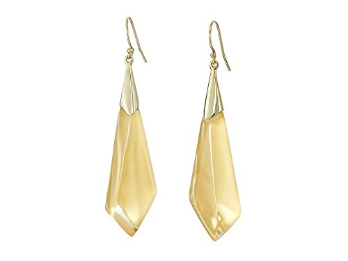 Alexis Bittar Gold Ring (Alexis Bittar Faceted Wire Polished Gold Drop Earrings)