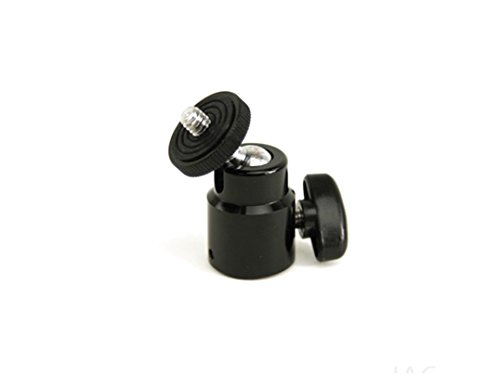 Mini Ball Head with Lock and Hot Shoe Adapter Camera Cradle 1/4