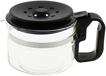 Jarra cónica, con tapa adaptable, color negro, 9-12 tazas: Amazon.es: Grandes electrodomésticos