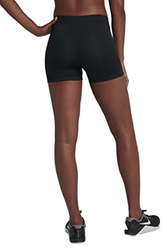 Short Black Womens Pro Compression white 3