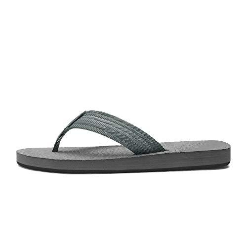 55273205a8584 NORTIV 8 Men's 181113M Grey Classical Thong Flip Flops Sandals Comfortable  Light Weight Beach Sandal Size 10 M US